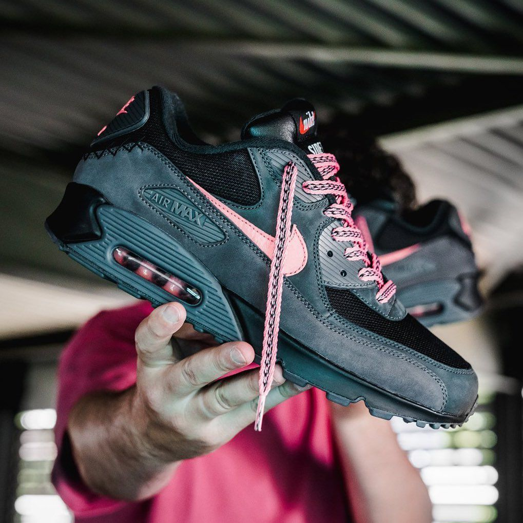 """free shipping 2d83d 20db6 Sneaker News on Instagram  """"The Nike Air Max 90 """"Mixtape"""" has a B-Side!  This second version features black uppers with Infrared trims."""