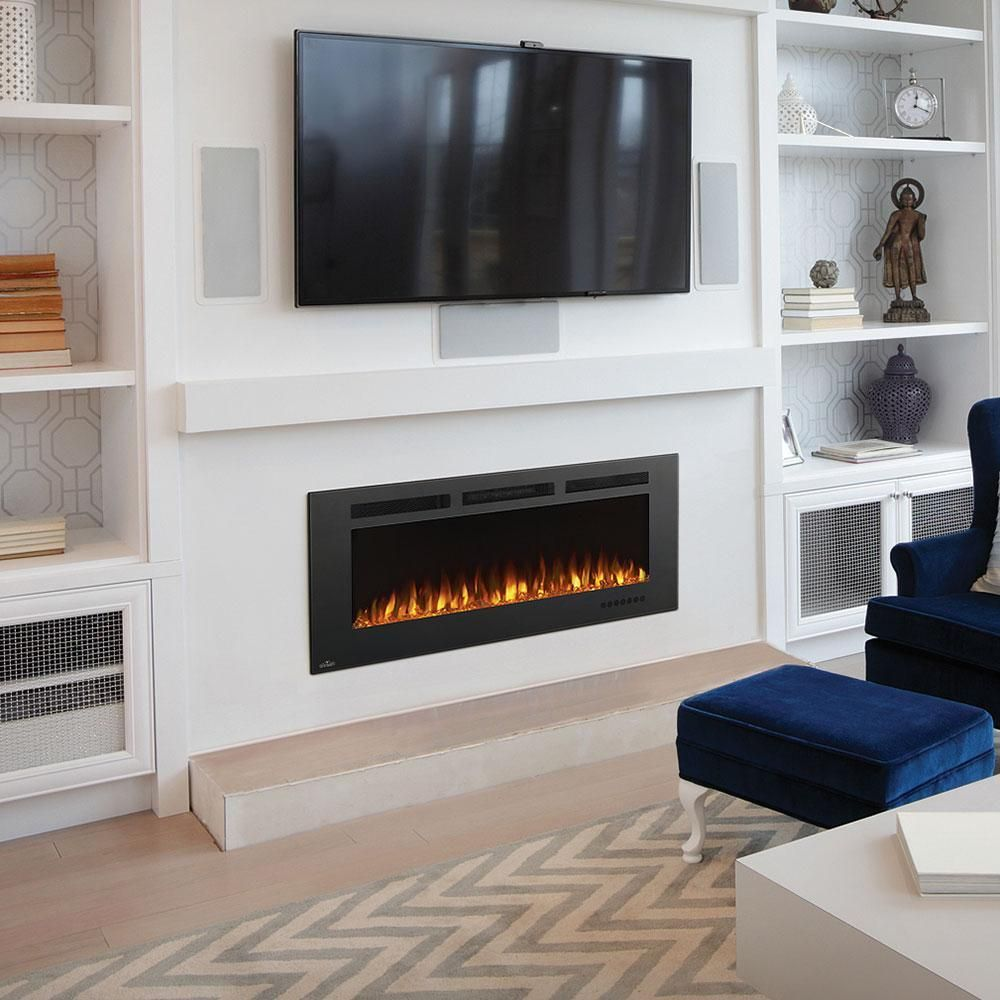 Napoleon Allure Phantom 50 Linear Wall Mount Electric Fireplace In