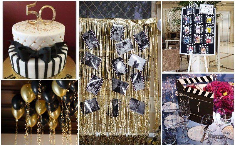 Fiesta de 50 cumplea os 47 ideas geniales hollywood for Decoracion cumpleanos 50 anos
