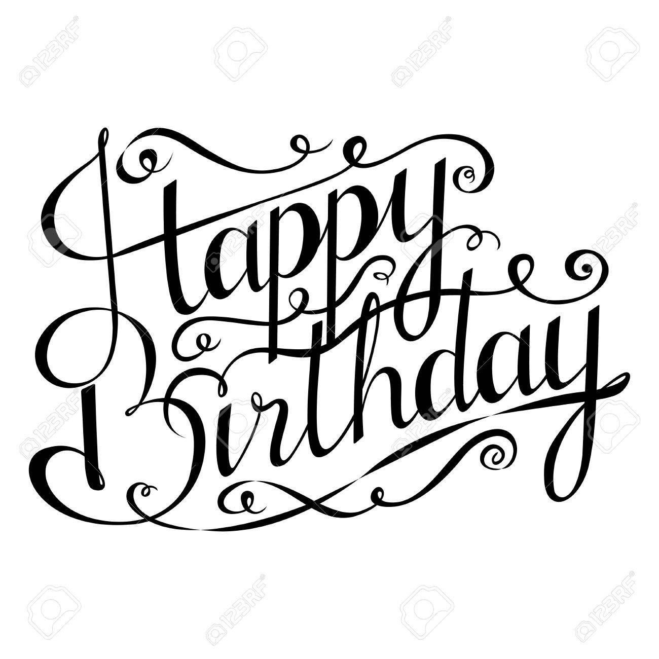 Bildergebnis Fur Kalligraphie Happy Birthday Kalligraphie