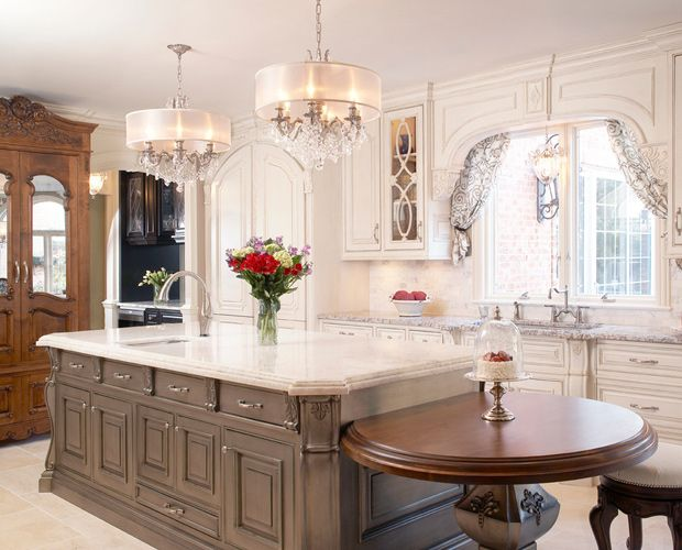 Kitchen Chandelier And Kitchen Island Round Design Mesmerizing Story Home Inspiration For Kitchen Concept Homes Designs 43 Kitchen interior ideas | zoonek.com