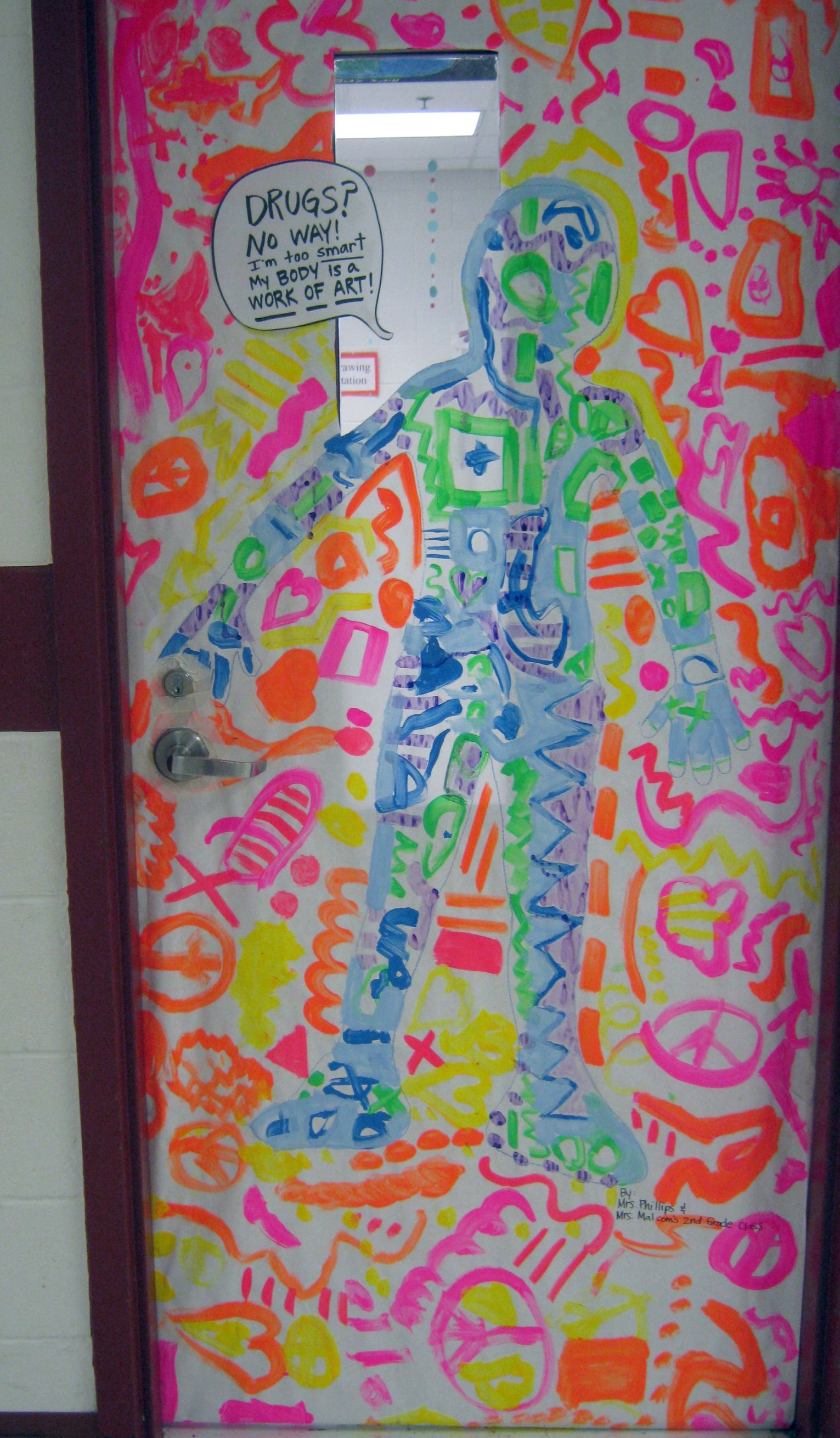 Classroom Decoration Inspiration ~ Red ribbon week door decorating inspiration