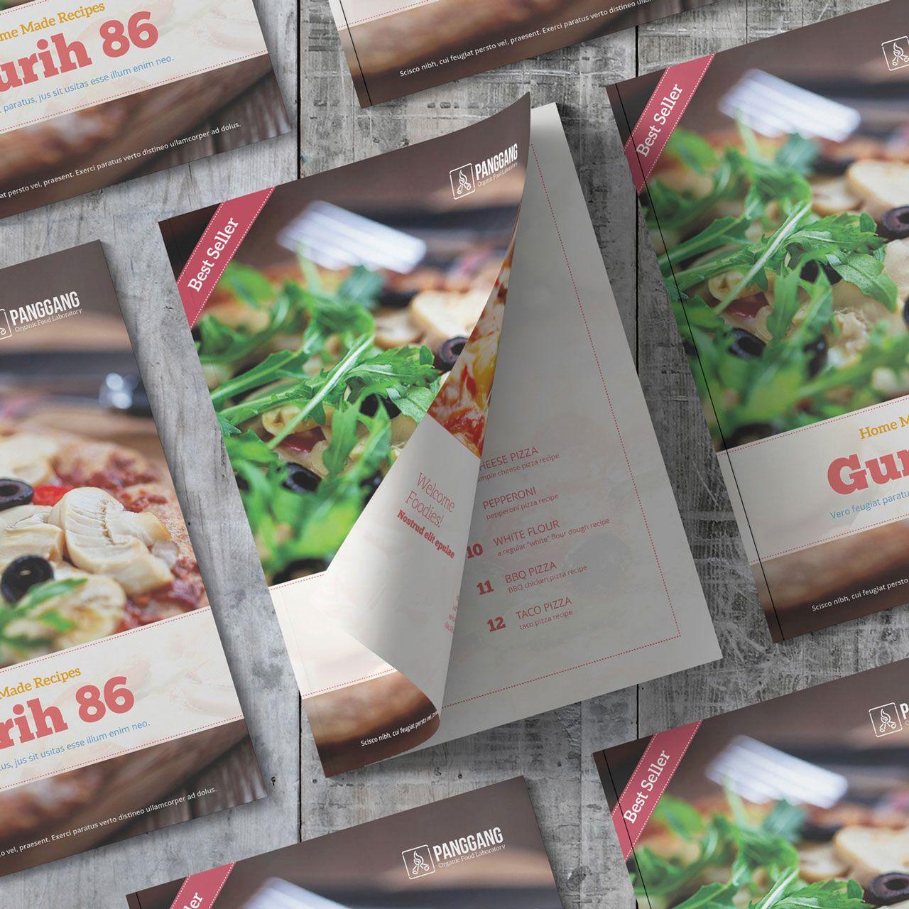Gurih 86 Plantilla Libro de Cocina | Plantillas | Pinterest | Adobe ...