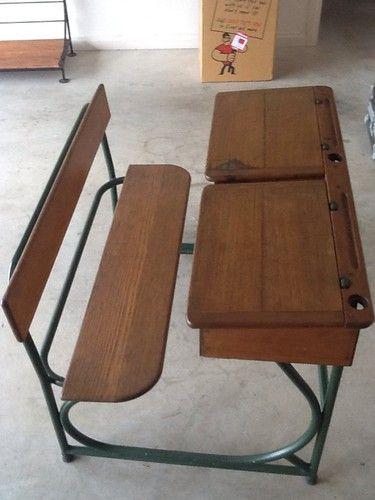 Antique School Desk Ebay