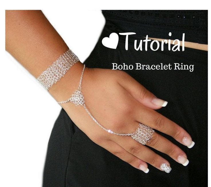 Wire Crochet Jewelry Tutorial, Learn How VIDEO and PDF Instructions to Make a Boho Chic Brace... Wire Crochet Jewelry Tutorial, Learn How VIDEO and PDF Instructions to Make a Boho Chic Bracelet Ring, DIY jewelry, crochet patterns,