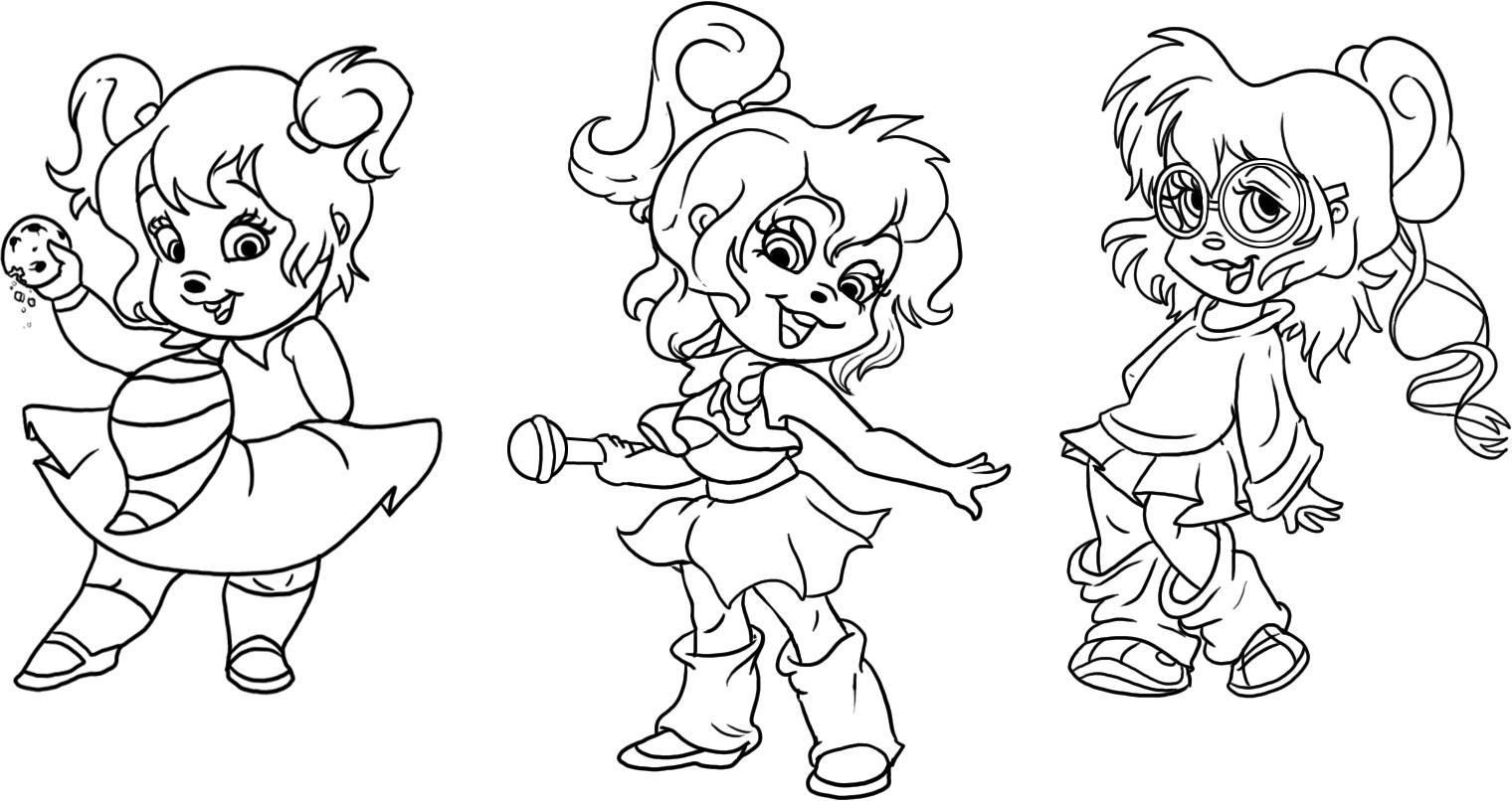 Vriendinnetje Alvin Cartoon Coloring Pages Coloring Pages Coloring Pages For Kids