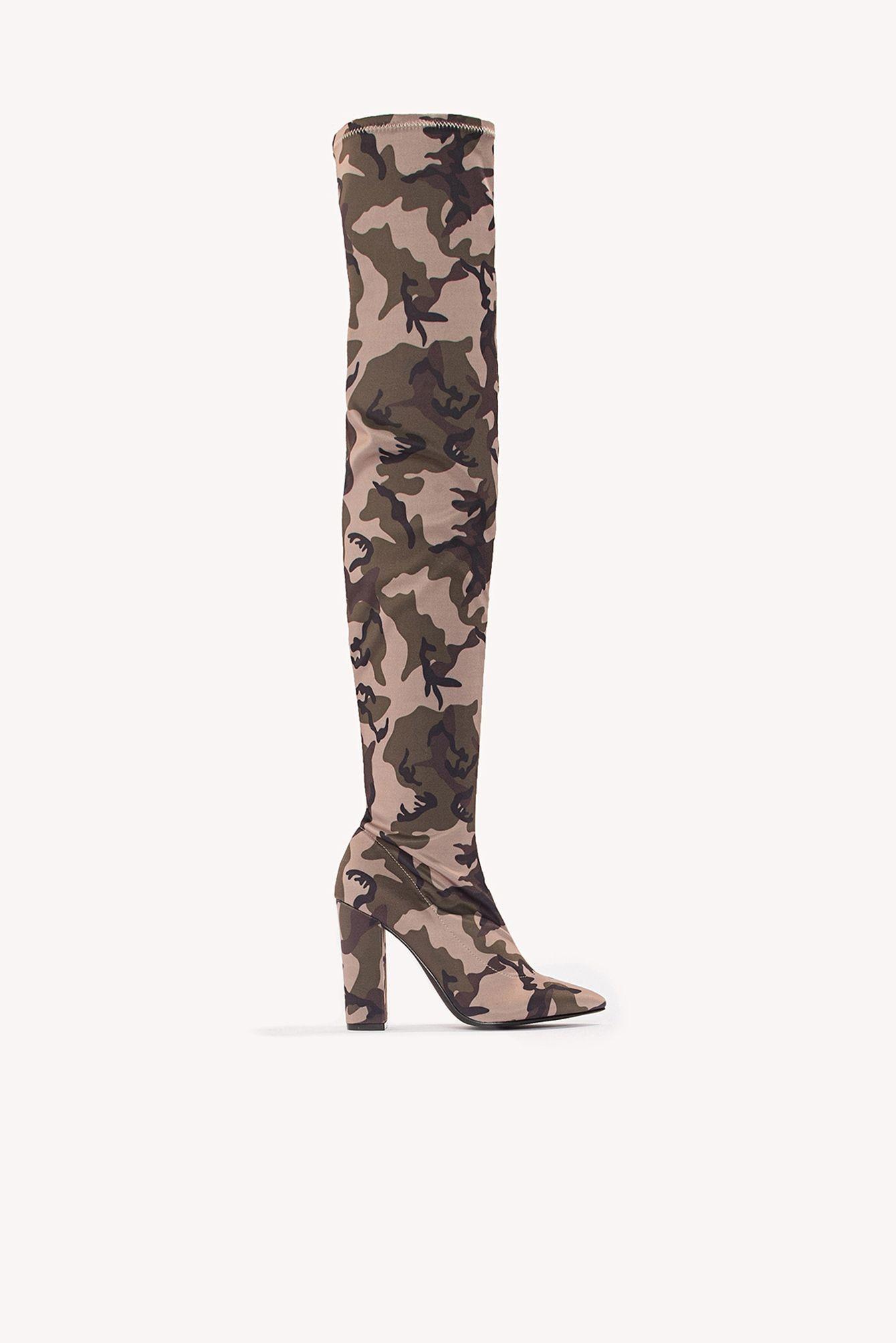 detailing 57681 5250e NA-KD SHOES   Over Knee Camo Boot  Shoes  NA-KD SHOES