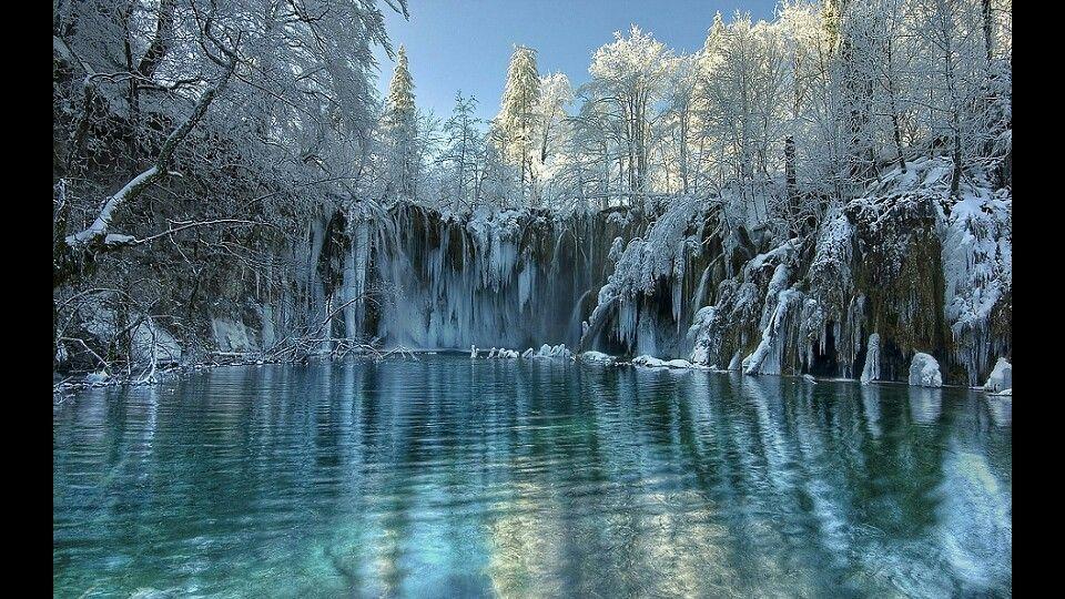 plitvice Croatia winter