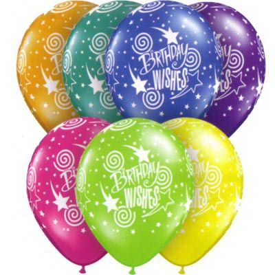 Pack Of 10 Birthday Wishes Balloons For Son Happy Clip
