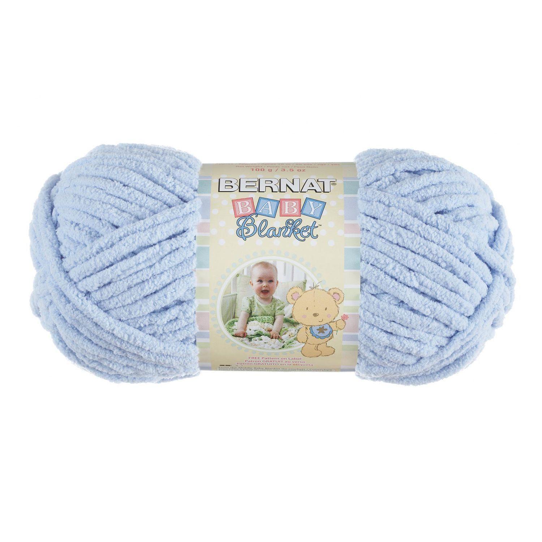 Bernat Blanket Yarn Baby Blue Small Skein