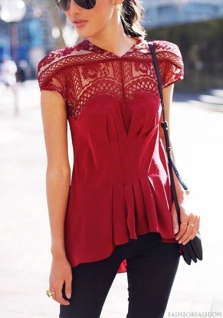 Cute top! Love the color