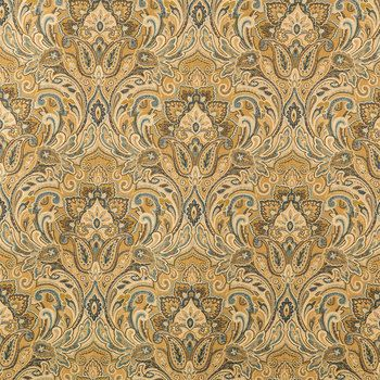 Gold Chinaisa Paisley Home Decor Fabric 24 50 Yard On
