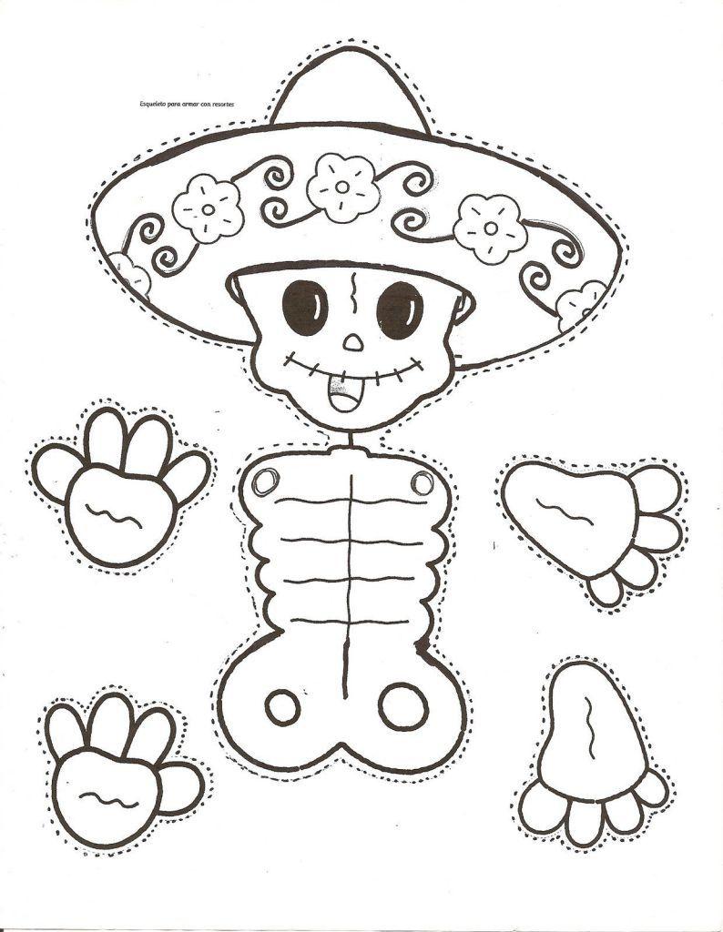 Dibujos Para Colorear El Dia De Los Muertos 63 Dibujo Dia De Muertos Actividades Dia De Muertos Dia De Muertos