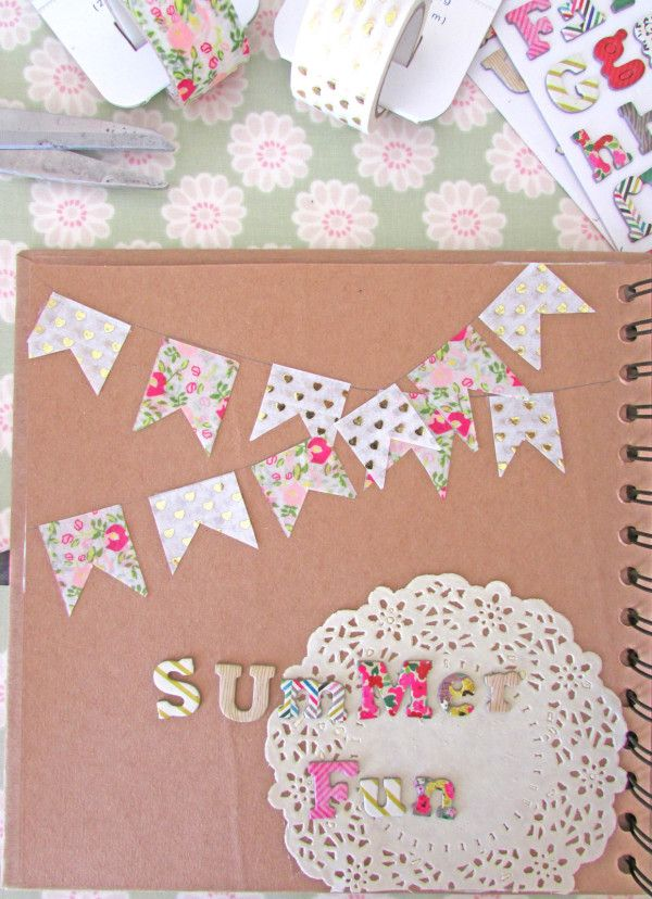 How To Make A Scrapbook Page With Washi Tapes Papercraft