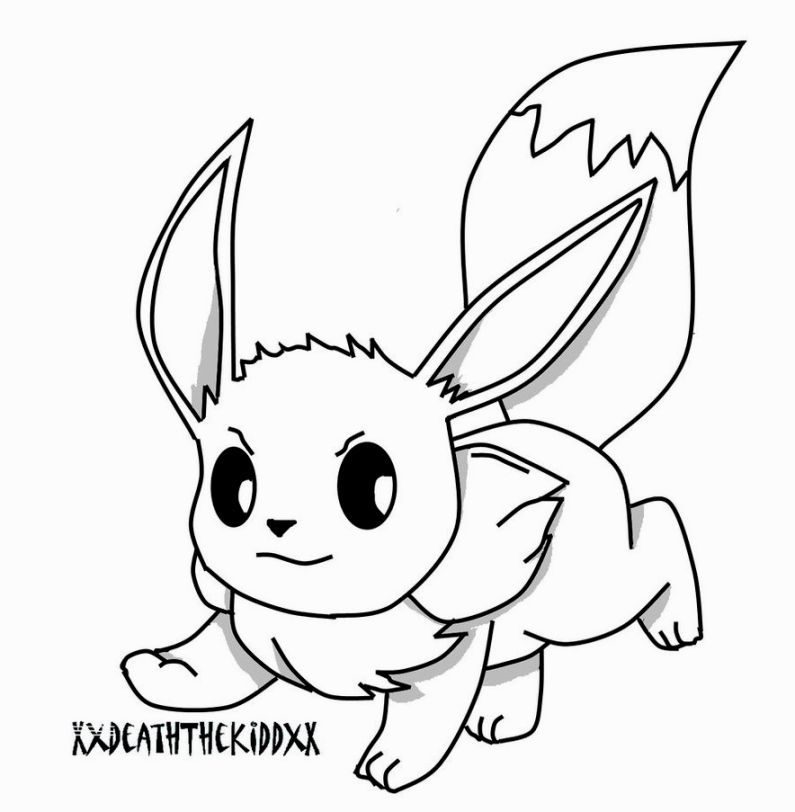 Pokemon Coloring Pages Eevee | Anime Coloring Pages | Pinterest ...