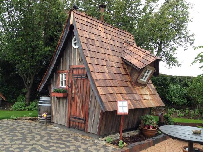 Garten Hexenhaus Crooked House Shed Fairytale House