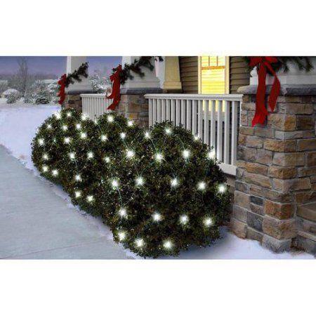 Holiday Time Random Twinkle LED Net Christmas Lights Cool White, 150 Count - Holiday Time Random Twinkle LED Net Christmas Lights Cool White, 150