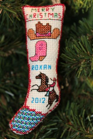 Cowgirl -  Personalized Christmas Ornament