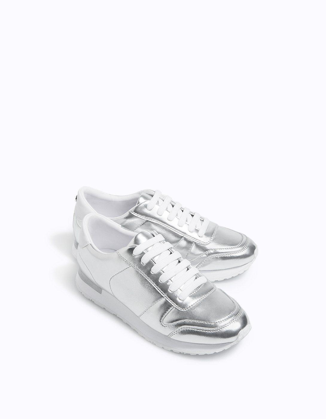 Tennis métallisées - Toutes   Stradivarius France   Shoes, Vans ...