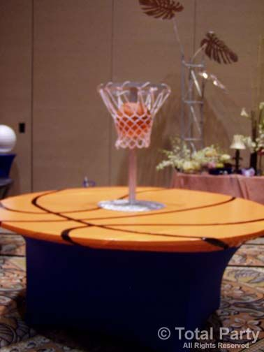 Perfect Basketball Banquet Centerpieces | Copyright © 2002 2014 TOTAL PARTY, LLC |  Info@