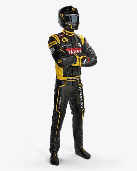 Download F1 Racing Kit Mockup Half Side View In Apparel Mockups On Yellow Images Object Mockups Clothing Mockup Design Mockup Free F1 Racing