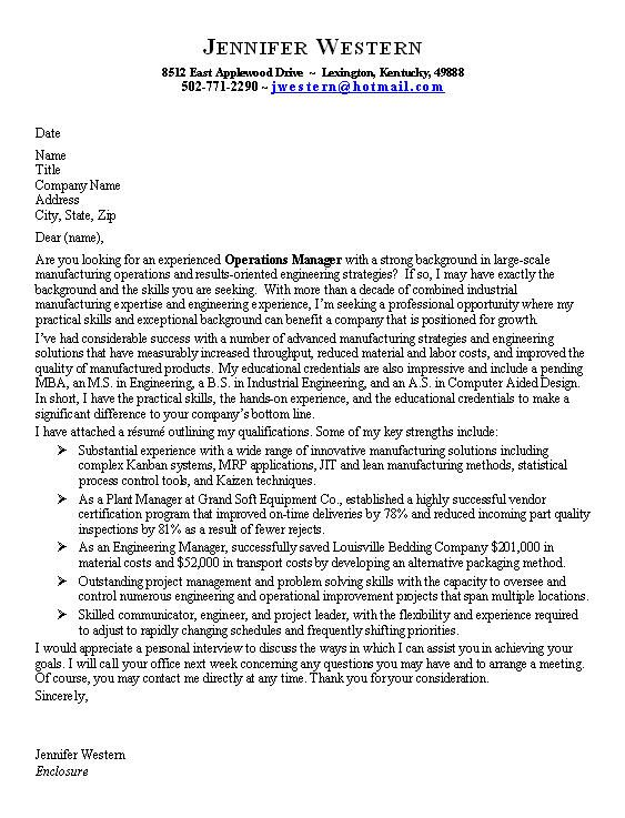 Good Resume Cover Letter Examples. Writing A Good Cover Letter