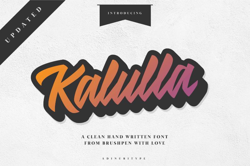 Kalulla Font Clean script fonts