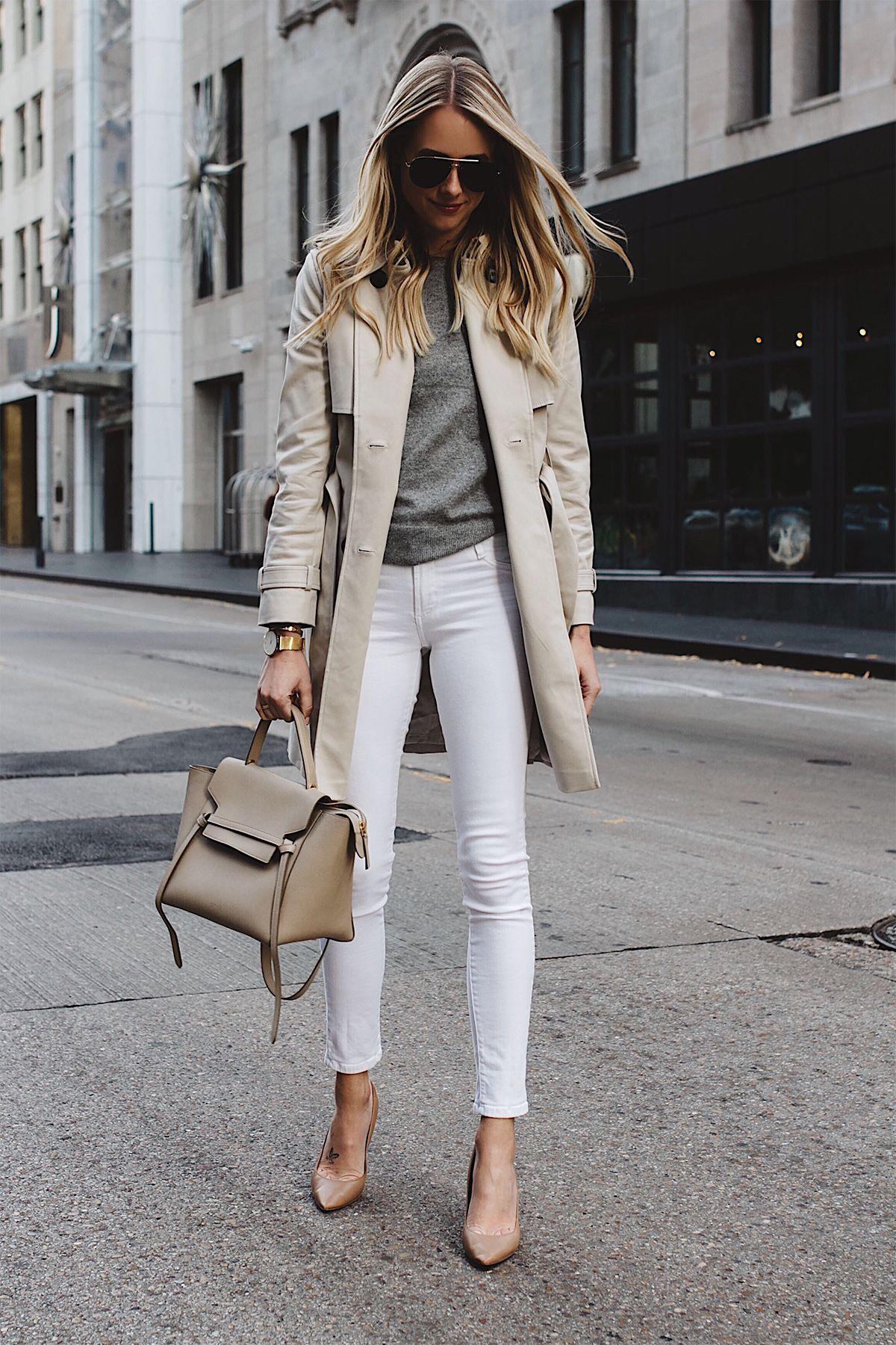 987ba05eac3 Fashion Jackson Club Monaco Trench Coat Grey Sweater White Skinny Jeans  Celine Belt Bag Aviator Sunglasses Nude Pumps Fashion Jackson Dallas Blogger  Fashion ...