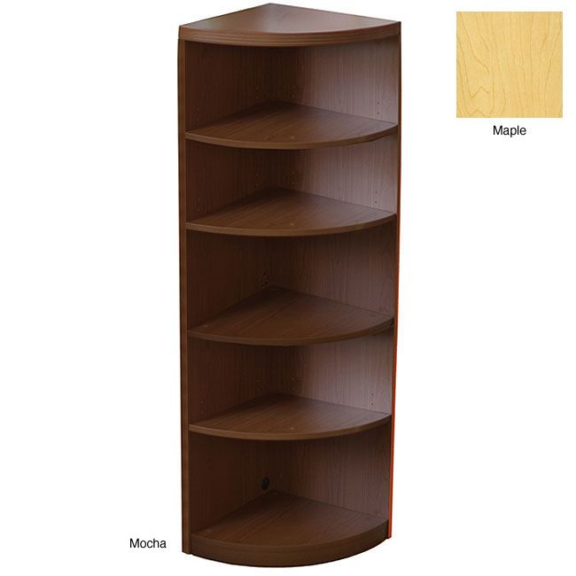 Round Corner Shelf Mayline Aberdeen Bookcase Shelves