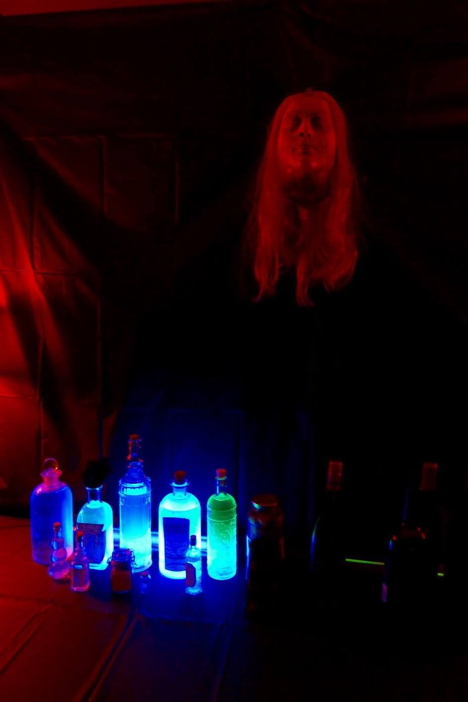 Party Decor - BAR Tonic water added to regular water + food coloring ...