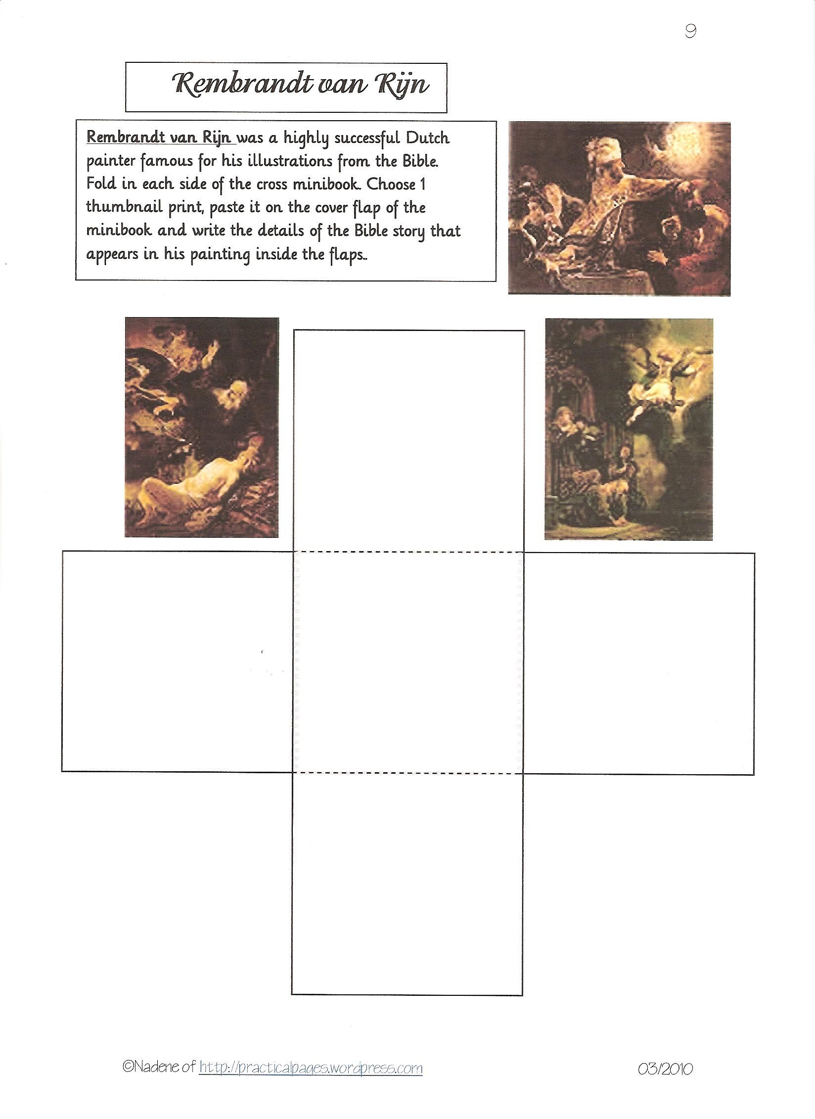 Davinci Worksheet For High School
