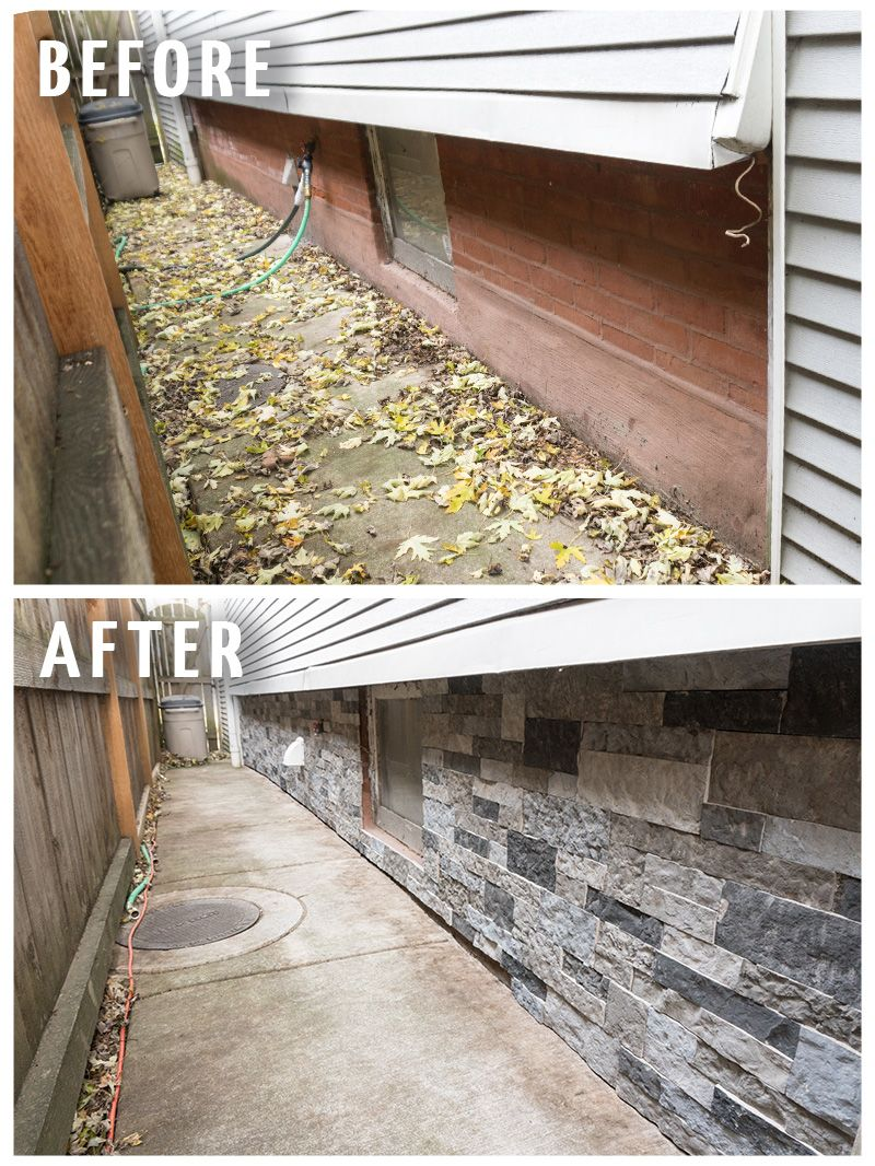 Tips for installing airstone on an exterior foundation - Exterior concrete leveling products ...