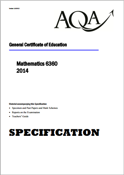 AQA Mathematics AS/A Level (6360), Pure Maths, Further