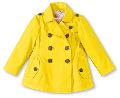 1f3732702 Cherokee Infant Toddler Girls Trench Coat - Yellow on shopstyle.com ...