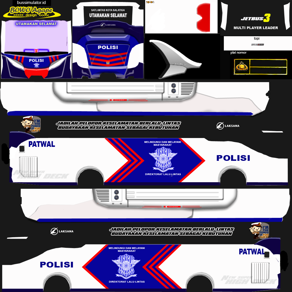 Discover The Coolest Livery Bus Polisi Images New Bus Bus Games Livery Bus