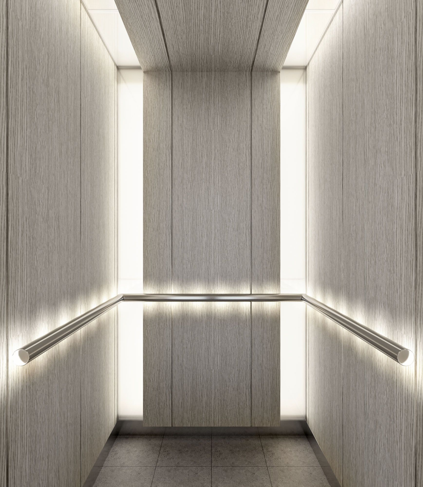 Elevator lobby and interior cab interior design ideas for Elevator flooring options