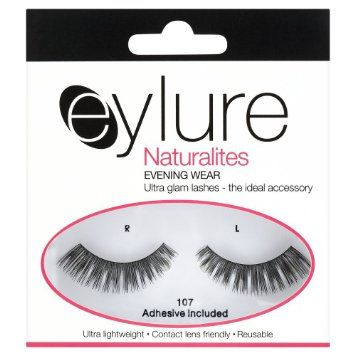 1f25a839e62 Eylure Naturalite Strip Lashes No. 107 (Evening Wear): Amazon.co.uk: Beauty