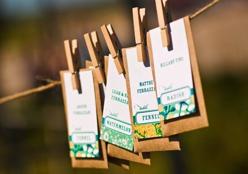 DIY Flower Seed Packet Favors What Else Can I Do Wedding Diy
