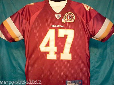 Redskins 75th Anniversary Chris Cooley Jersey.Free Priority Shipping.
