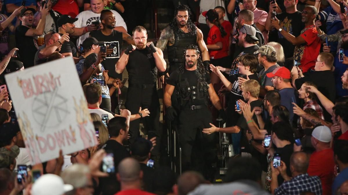 Photos The Hounds Of Justice Incite An Out Of Control Melee With Strowman Dolph Drew Wwe Roman Reigns The Shield Wwe Drew Mcintyre