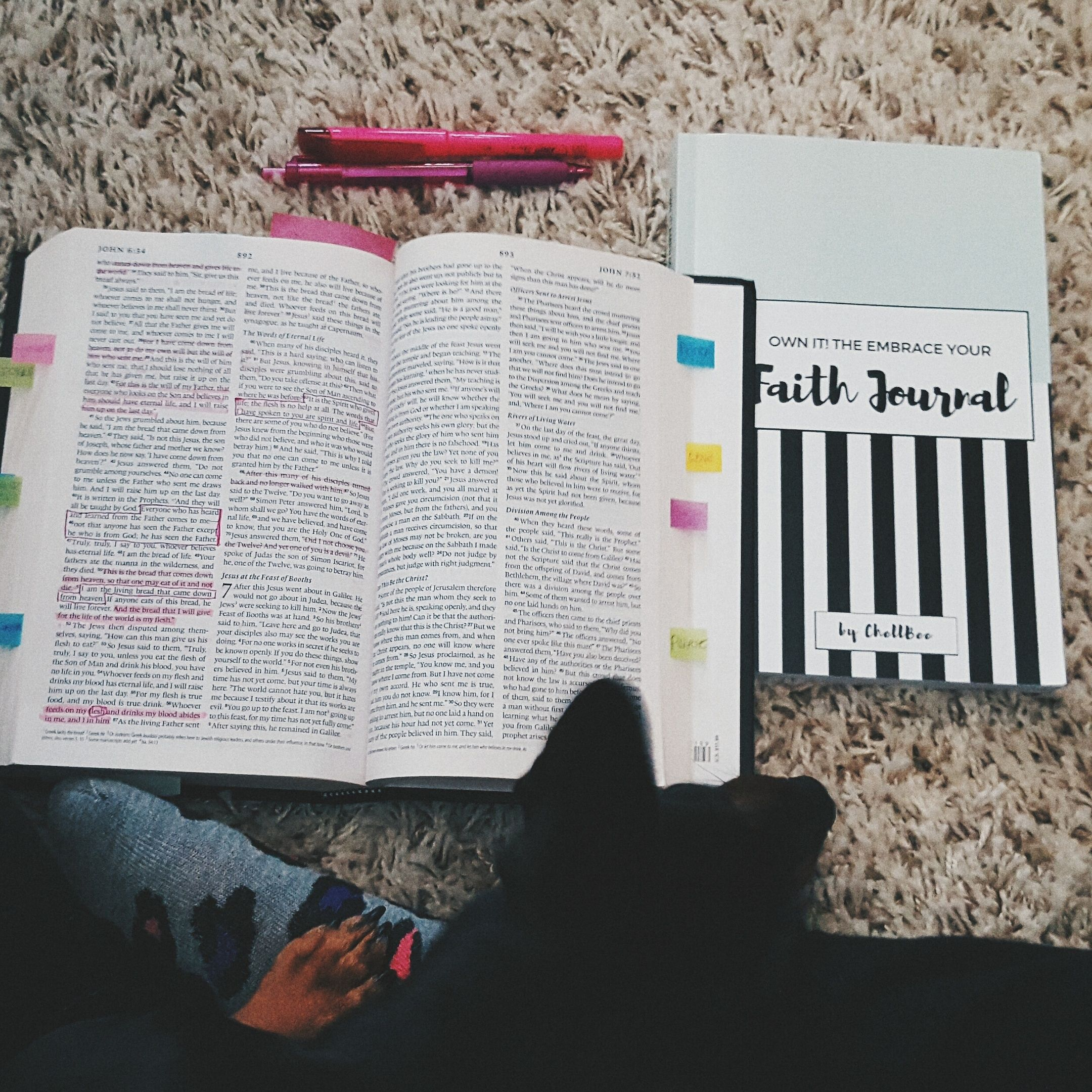 My special place to read the bible, reflect on the word, and pray. As a women developing in her Faith and someone who struggles to be consistent I knew a dedicated Faith Journal would help me get and stay on track. Im excited to share something that will help YOU no matter where you are in your faith journey (from beginner to warrior).