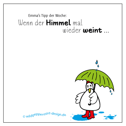 Emma S Tipp Der Woche Regen Humor Comic C Wildpeppermint Design De Illustration Web Design Grafik Design