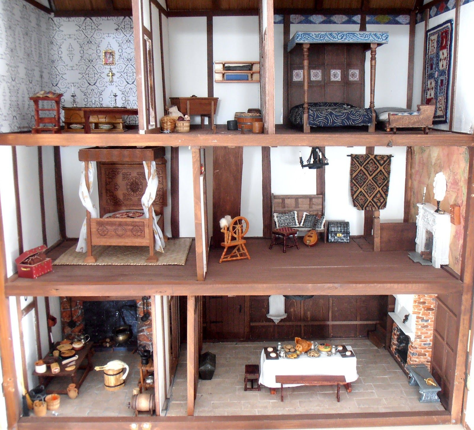 Elegant The Interior Of My Tudor Dolls House Here Is A View Of The Interior Of My  Tudor Dolls House. Kitchen, Screen Passage And Hall On The .