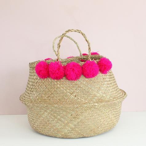 panier-pompons-tailandais Baskets And Bags Pinterest
