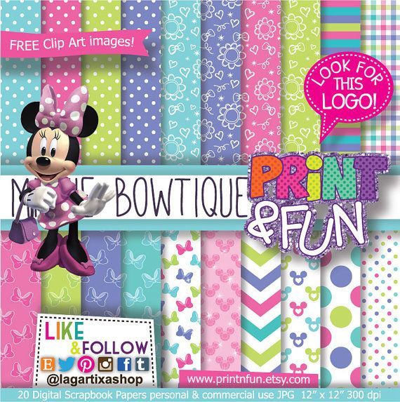Sweet Girly Digital Papers Patterns Pink Purple Turquoise