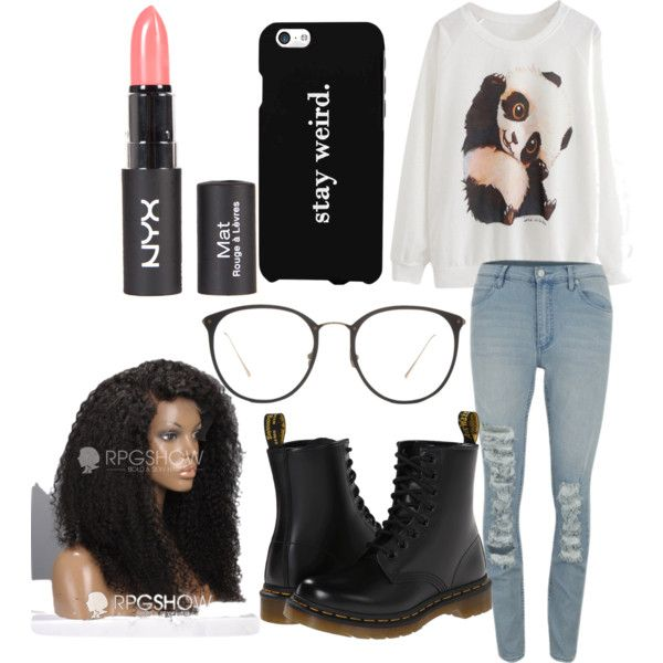 Untitled #5 by tcqueens2 on Polyvore featuring polyvore fashion style Cheap Monday Dr. Martens Linda Farrow