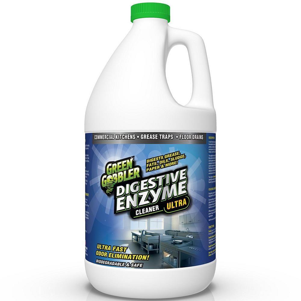 Green Gobbler 1 Gal Enzyme Drain Cleaner Ggedc128 The Home Depot Drain Cleaner Enzyme Cleaner Drain