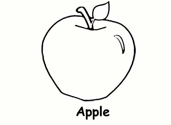 Apple Picture For Your Health Coloring Page Coloring Sky Apple Picture Apple Coloring Pages Coloring Pages
