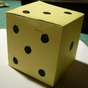 Comment Faire Un Dé En Carton Como Hacer Un Dado Como Hacer Juegos Cartas De Cartón