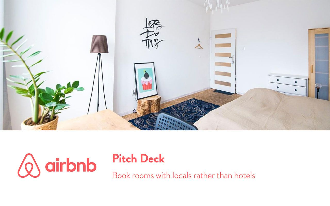 Airbnb pitch deck teardown and redesign (PDF Download